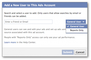 Facebook Ad Account Settings Permissions Ad user