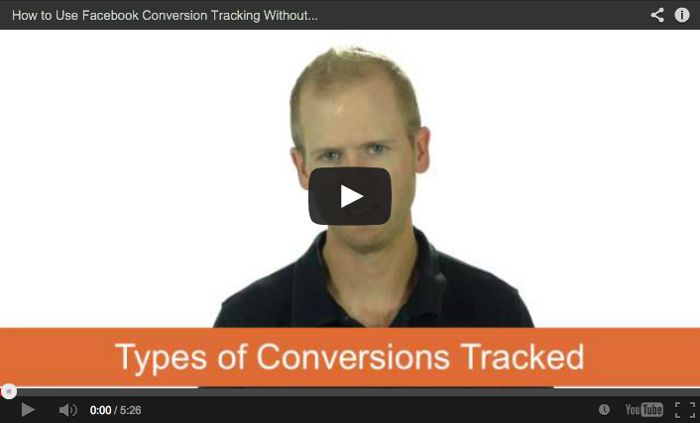 Facebook Conversion Tracking Video
