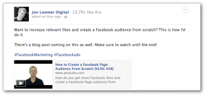 Facebook Hashtags Increase Audience