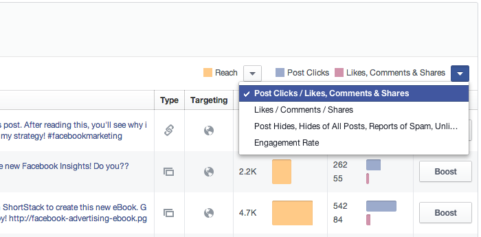 Facebook Insights Filtering