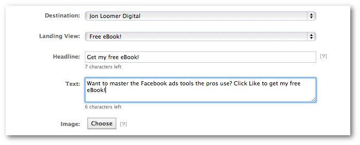 Facebook Power Editor Ad Page