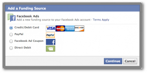 Facebook Power Editor Add Funding Source