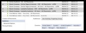 Facebook Power Editor Bulk Edit Ads
