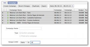 Facebook Power Editor Bulk Edit Campaigns