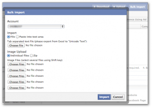 Facebook Power Editor Bulk Import