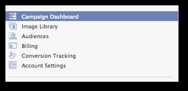Facebook Power Editor Campaign Dashboard Click