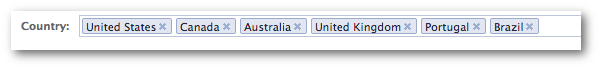 Facebook Power Editor Country Targeting