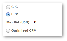 Facebook Power Editor CPC Bid