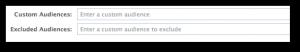 Facebook Power Editor Custom Excluded Audience