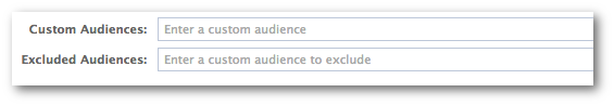 Facebook Power Editor Custom Excluded Audience