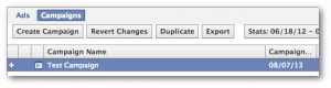 Facebook Power Editor Duplicate Campaign