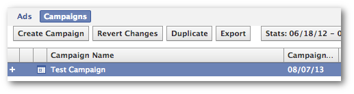 Facebook Power Editor Duplicate Campaign