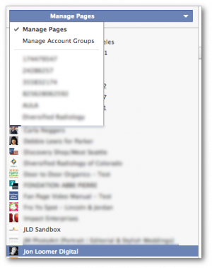 Facebook Power Editor Manage Page