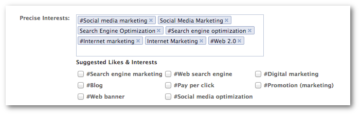 Facebook Power Editor Precise Interests