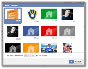 Facebook Power Editor Select Image