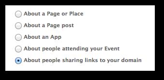 Facebook Power Editor Sponsored Story Domain