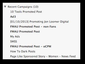 Facebook Power Editor Upload Bold
