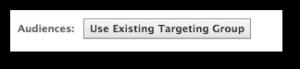 Facebook Power Editor Use Targeting Group