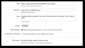 Facebook Power Editor Website Ad
