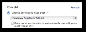 Facebook Self-Serve Ad Tool Promote Post