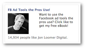 eBook Facebook Ad