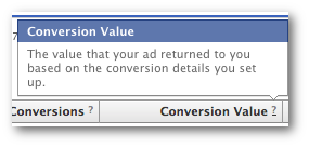 Facebook Ads Conversion Value Definition