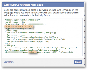 Facebook Ads Conversion Value How To