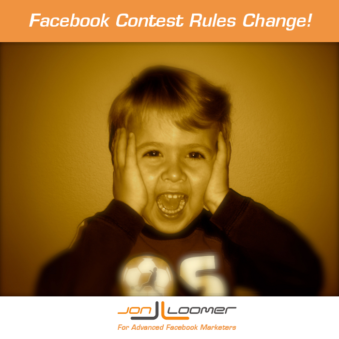 Facebook Contests Rules Change