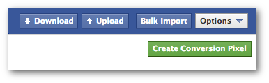 Facebook Power Editor Create Conversion Pixel