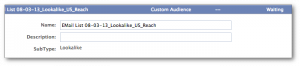 Facebook Power Editor Lookalike Audiences Waiting