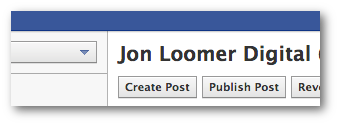 Facebook Power Editor Manage Pages Create post