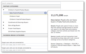Facebook Power Editor Partner Categories Baby Food Products