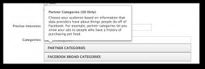 Facebook Power Editor Partner Categories Definition