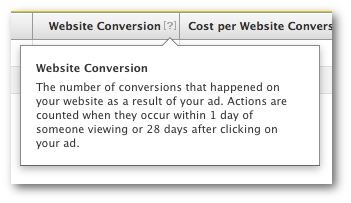 Facebook Website Conversion Meaning