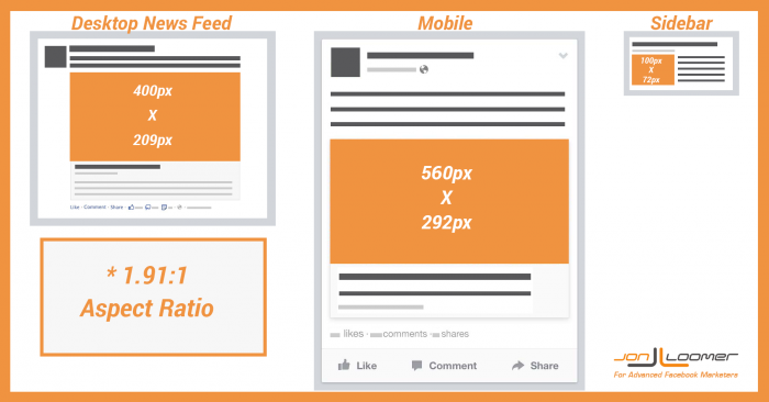 Facebook Link Thumbnail Image Dimensions Desktop News Feed Mobile Sidebar