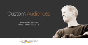 4 Creative Ways to Target Your Email List with Facebook Custom Audiences