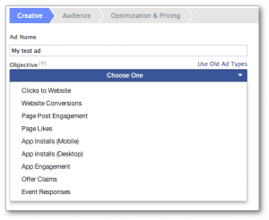 Facebook Ad Objectives Power Editor