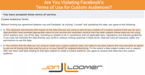 Facebook Custom Audiences Terms of Service