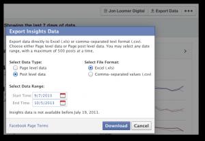 Facebook Insights Export