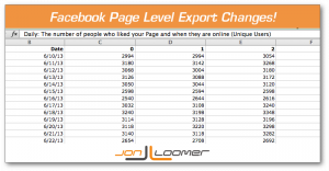 Facebook Page Level Export Changes