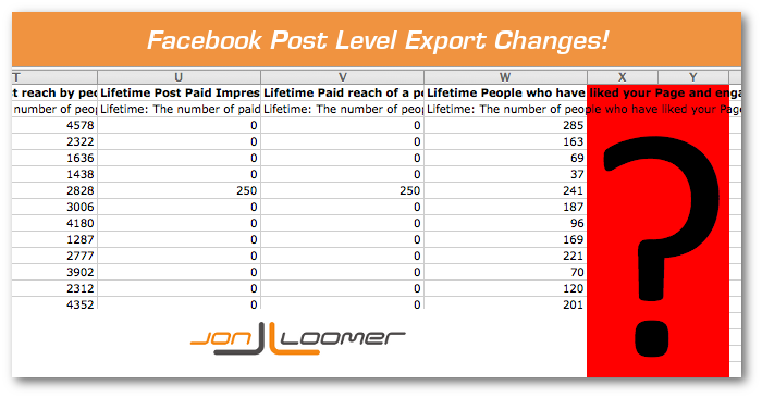 Facebook Post Level Export Changes