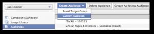 Facebook Power Editor Create Custom Audience