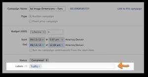 Facebook Power Editor Labels