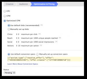 Facebook Power Editor Optimization Pricing