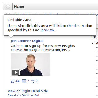 Facebook Ads Manager Preview