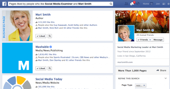 facebook graph search precise interests 700x366 14 Steps to Succeeding at Facebook Marketing