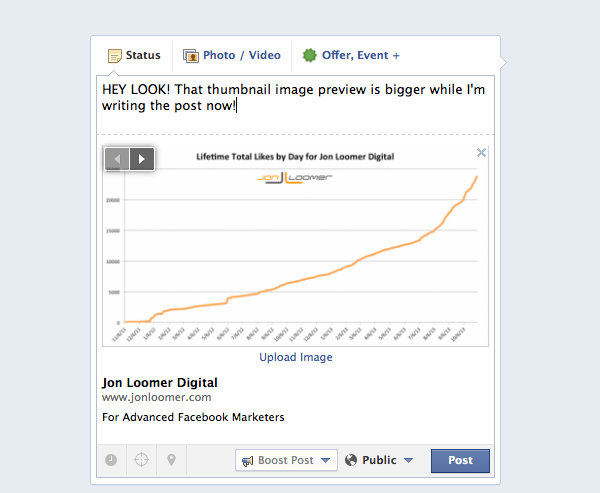 Facebook Link Thumbnail Preview Change