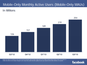 Facebook Mobile Only Monthly Active Users