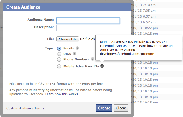 Facebook Power Editor Tooltips