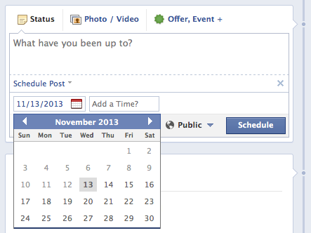 facebook scheduling 10 Very Recent Facebook Changes You May Have Missed